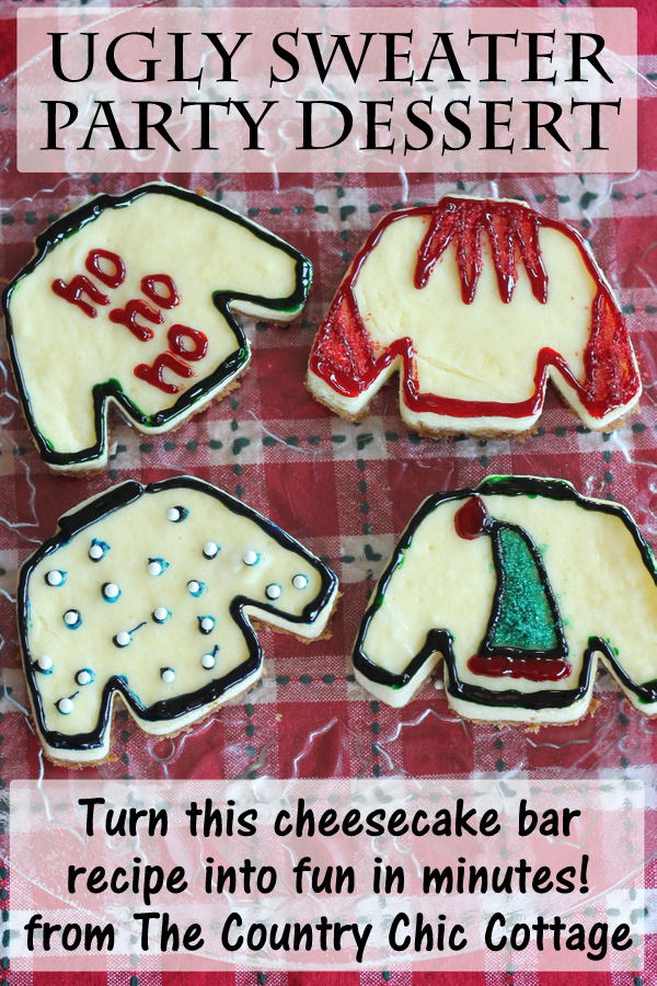 Ugly Sweater Party Dessert -- make this themed dessert for any ugly sweater party this Christmas!
