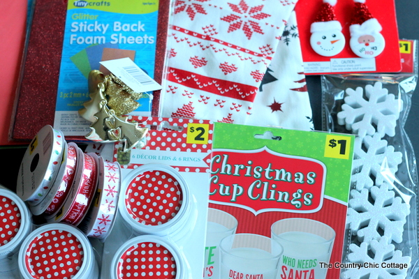 supplies to make christmas ornaments from mason jars