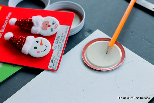 adding glitter foam to christmas ornaments