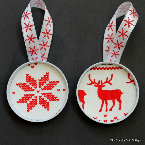 scandinavian themed christmas ornament