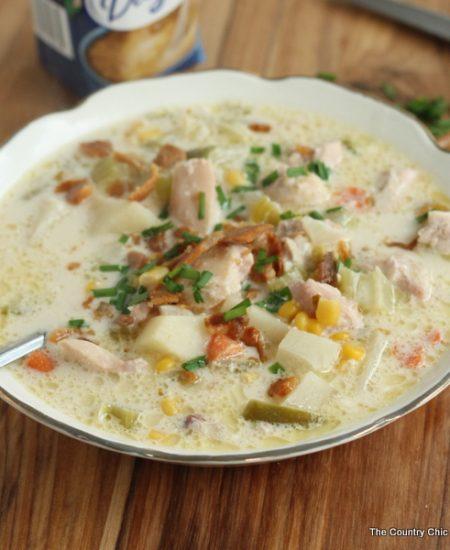 Chicken Corn Chowder Recipe -- a great recipe for cool winter nights!
