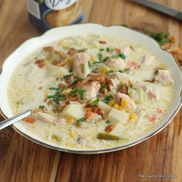 Chicken Corn Chowder Recipe -- a great recipe for cool winter nights!