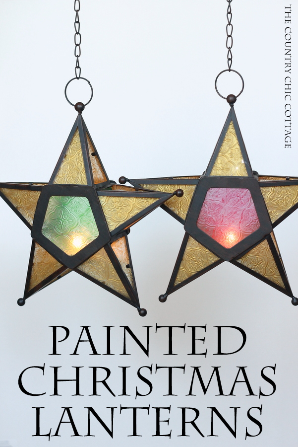 Painted christmas star lantern the country chic cottage christmas painted lanterns make these gorgeous lanterns inspired by the philippine christmas lantern tradition solutioingenieria Gallery