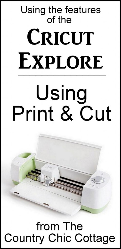 Using the print and cut feature on your Cricut Explore