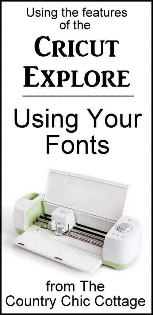 Using your own fonts with the Cricut Explore