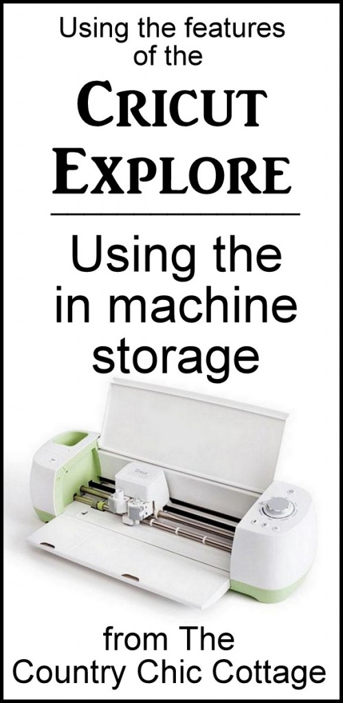 Great in machine storage on the Cricut Explore