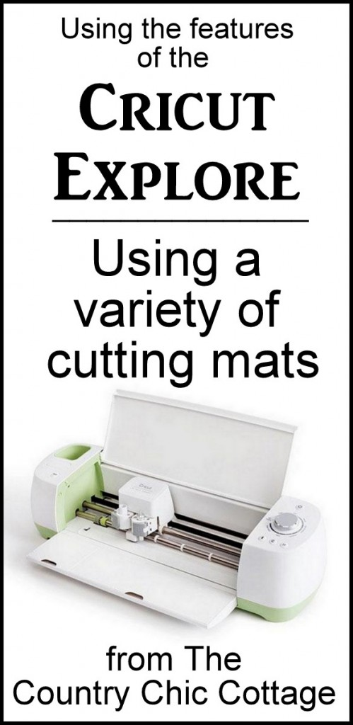 A variety of cutting mats are available for your Cricut Explore
