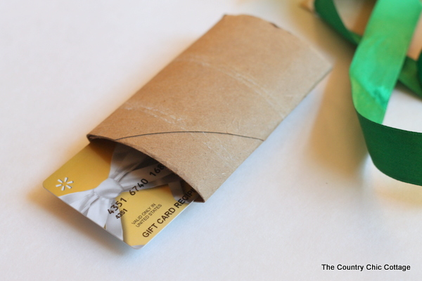 Diy gift card holder from a toilet paper roll the country chic make this diy gift card holder from a paper towel roll in minutes negle Image collections