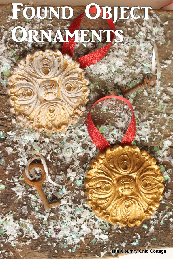 Found Object Ornaments -- grab any gorgeous objects from your home or the thrift store and turn them into ornaments in minutes!
