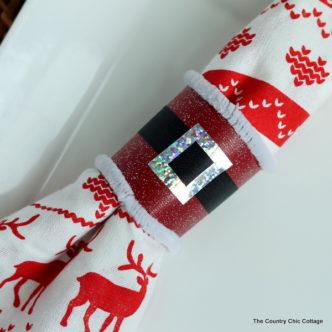 Make Santa Napkin Rings in Minutes!
