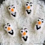 Olaf Nutter Butter Cookies -- fun cookies to serve up this Christmas, winter, or anytime of the year! Watch the Disney Frozen movie and eat a batch of Olaf cookies!