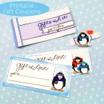 Winter Penguin Love Coupon Book Printable by Jen Goode