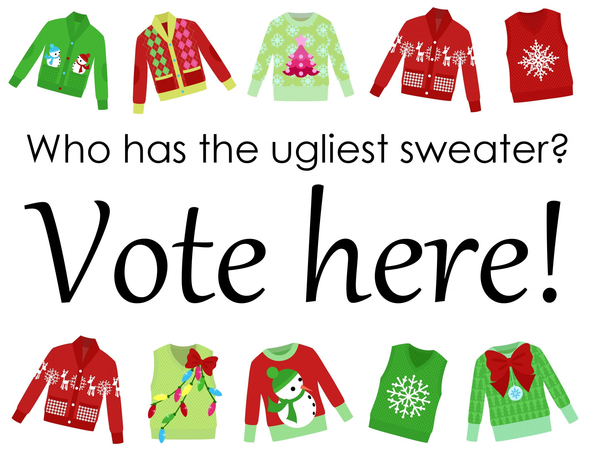 Ugly Sweater Ballot Template | Auto Cars Price And Release