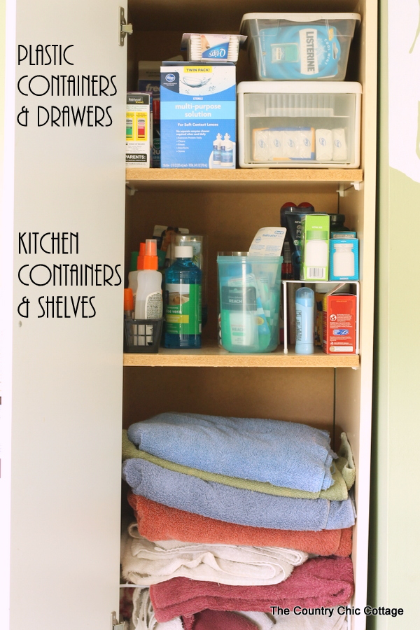 Bathroom Cabinets Organizing Ideas bathroom cabinet and drawer organization ideas - the country chic