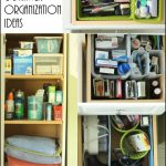 Bathroom cabinet and drawer organization ideas -- simple ideas to implement in your home with supplies from Dollar General.