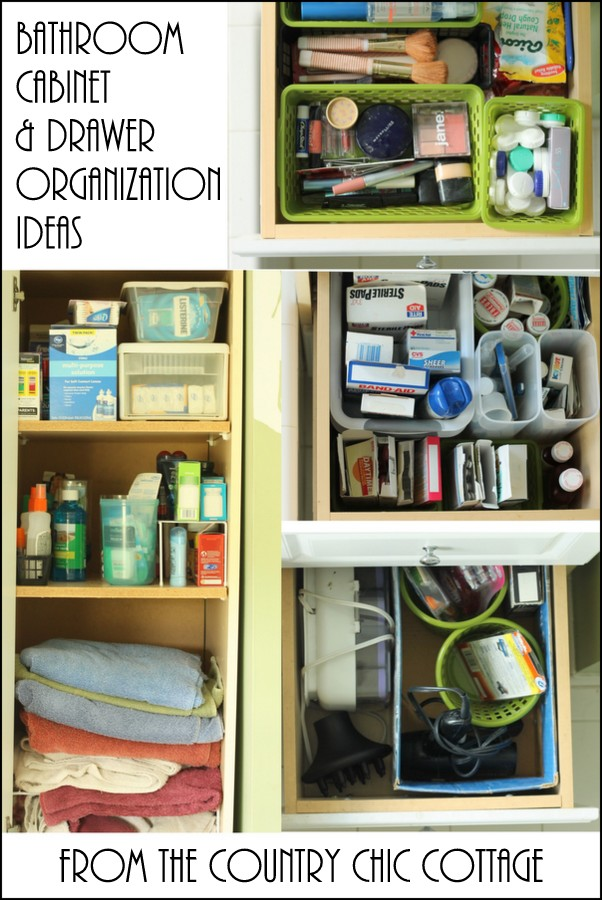 Bathroom Cabinet And Drawer Organization Ideas The