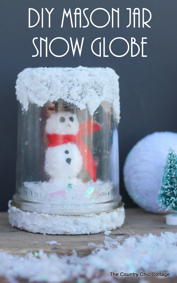 Make this fun snow globe for your home this winter!  Including instructions on how to make the mini snowman inside!