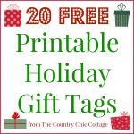 Print these holiday gift tags for FREE! Twenty options to make your Christmas merry and bright!