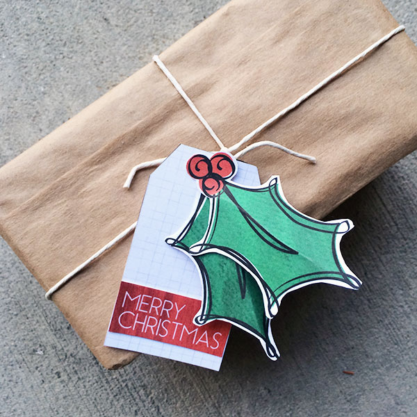 Make Your Own Gifts Christmas diy gift tag and printable the country chic cottage make your own christmas holly gift tags designed by jen goode sisterspd