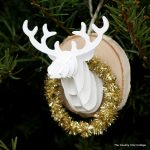 Make your own mounted deer head ornament with supplies from Michaels! A fun project that would look great on your tree!