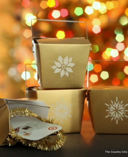 Take out box gift card holders -- add your gift cards to something extra special! These can be made in just seconds and are perfect for anytime of the year!