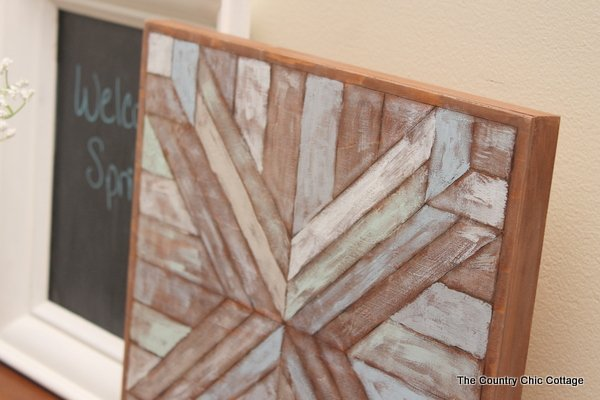 Wood Quilt Square Pottery Barn Knock Off -- make this wall art for a ...