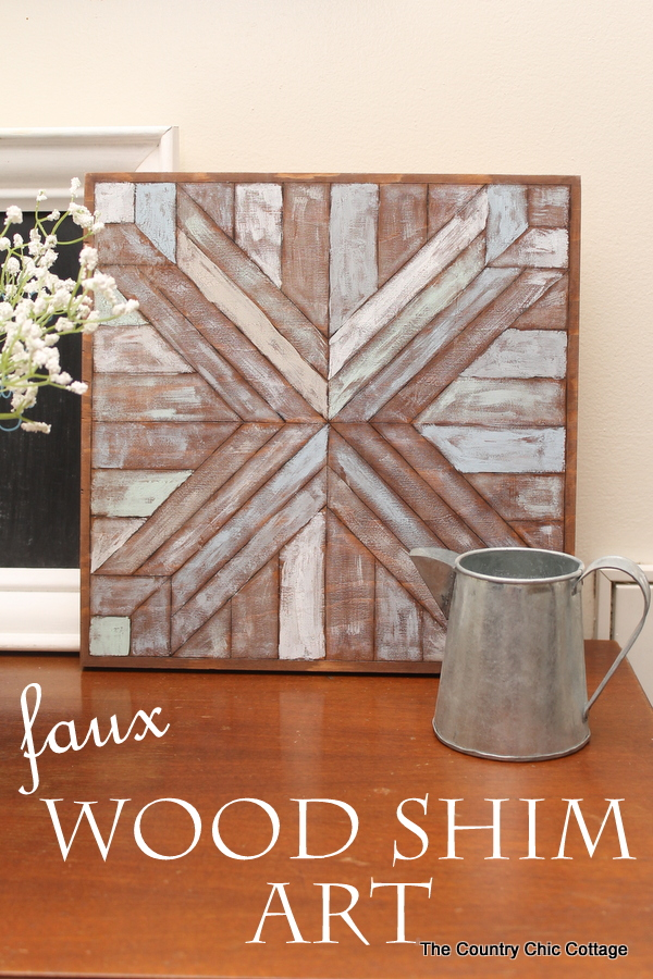 Wood Quilt Square Pottery Barn Knock Off    Make This Wall Art For A  Fraction