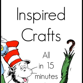 A collection of over 40 Seuss crafts that all take 15 minutes or less to make