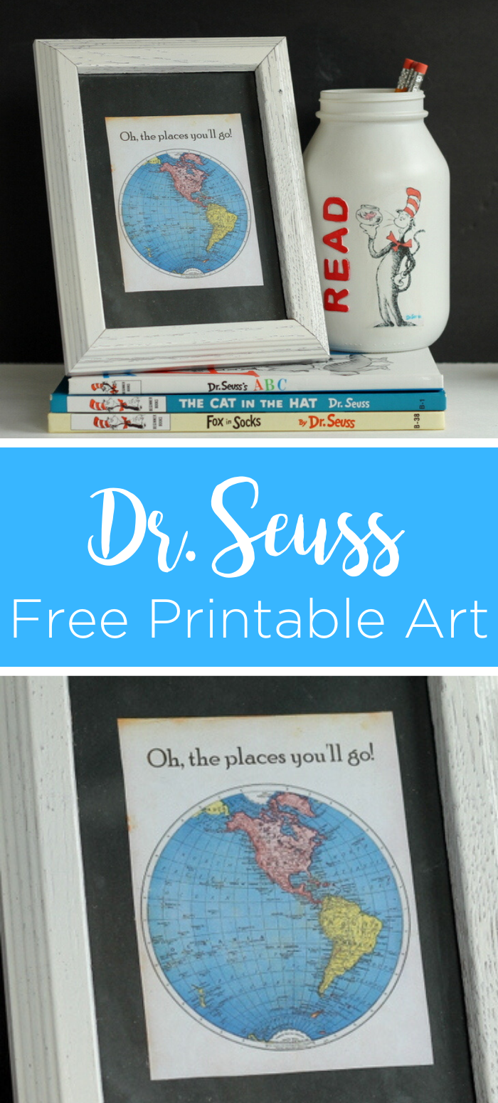 Dr. Seuss printable quotes are a great way to decorate your home! Give our Dr. Seuss free printable art a try for any room! #printable #freeprintable #drseuss #seuss #drseussquote #quoteart