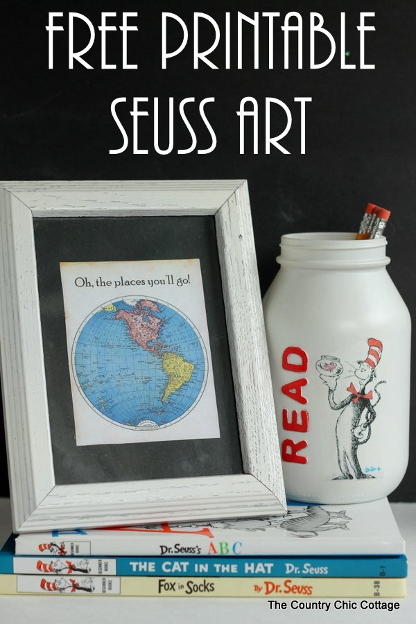 picture regarding Free Printable Dr Seuss Quotes titled Absolutely free Printable Dr. Seuss Artwork - The Region Stylish Cottage