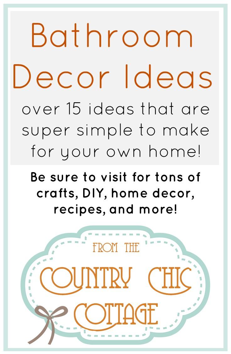 Tons of DIY ideas for your bathroom!
