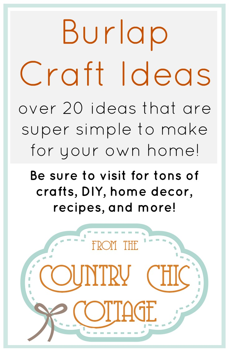 Love burlap crafts?  This is the place for you!