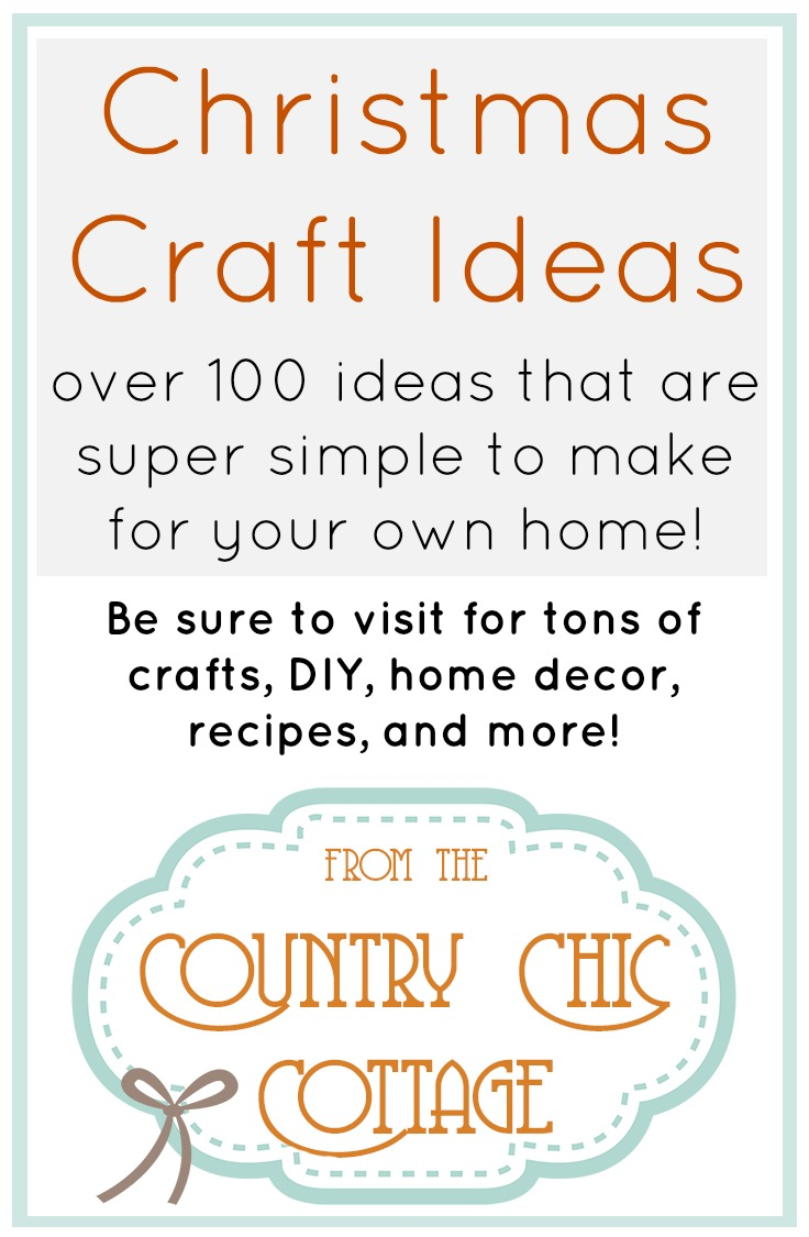 Over 100 ideas for your Christmas crafts!