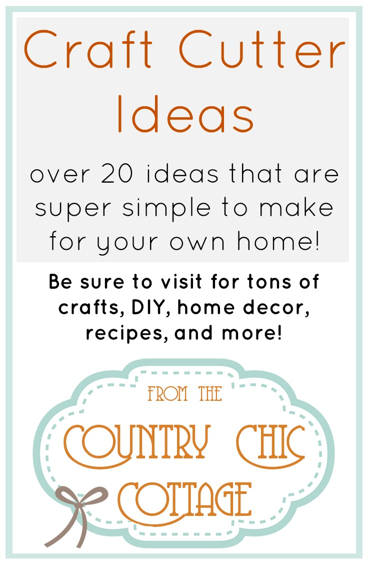 Own a craft cutter?  Whether it is a Silhouette, Cricut, or Sizzix....you can find craft projects here!