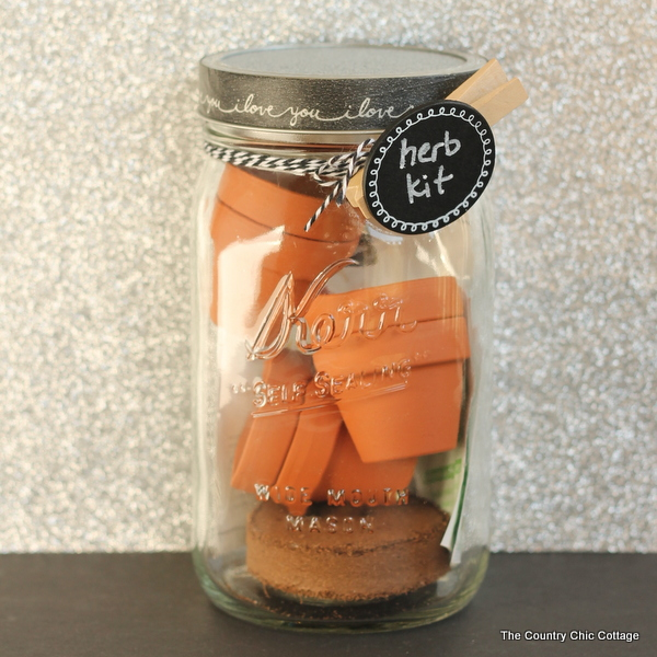 herb kit gift in a jar
