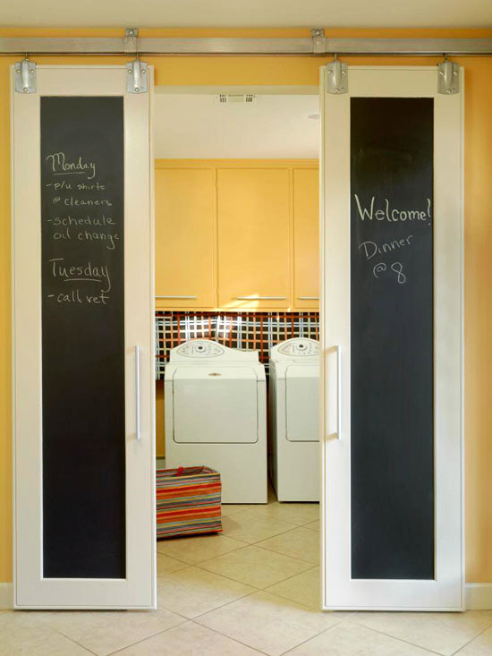 Tons of ideas and inspiration here for an organized laundry room!
