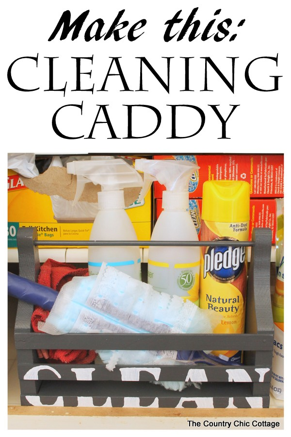 make your own cleaning caddy for cleaning supplies