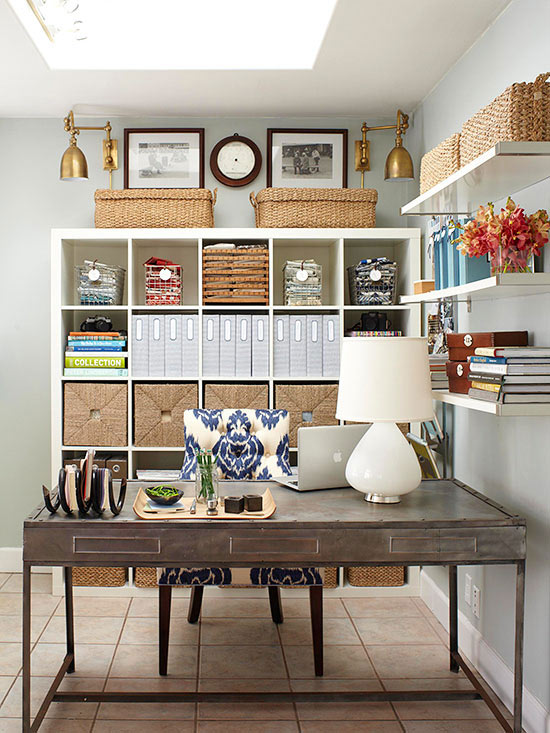 Office organization ideas the country chic cottage for Organize living room ideas