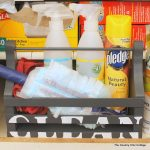 organize cleaning supplies with a cleaning caddy-005