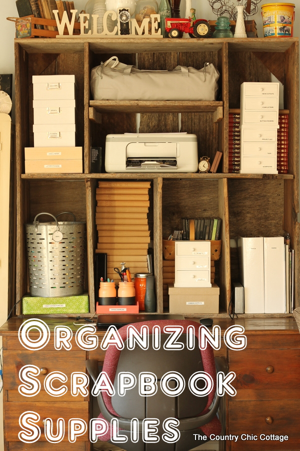 Tame the scrapbook clutter with these tips for organizing scrapbook supplies!