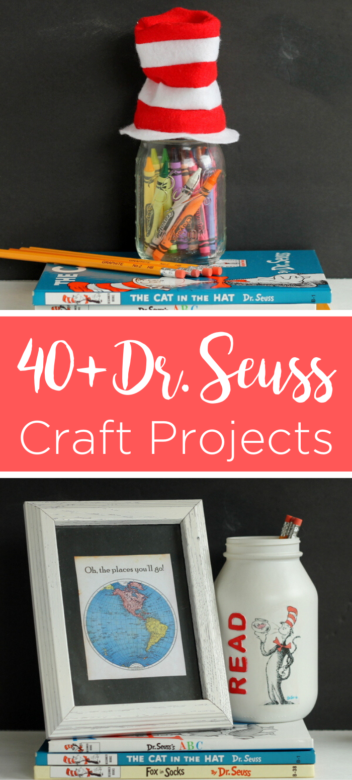 Give these Dr. Seuss day ideas a try in your home! Celebrate Read Across America Day with these craft ideas that take 15 minutes or less to make. #drseuss #seuss #readacrossamerica #seusscrafts #quickcrafts #simplecrafts