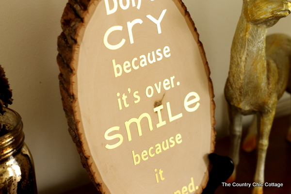 Make this wood slice quote art with a Dr. Seuss spin for your home. A quick 15 minute project that will look gorgeous in your home.