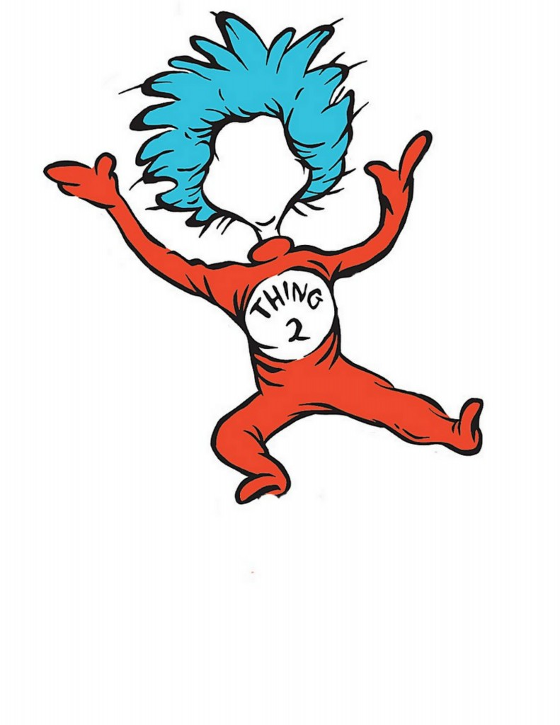 photo relating to Thing 1 and Thing 2 Printable Clip Art called Generate Your self into Issue 1 or Factor 2 - The Region Stylish Cottage