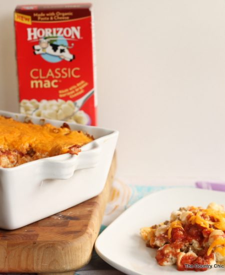 Taco Macaroni Bake -- add a few simple ingredients to boxed macaroni and cheese for a delightful quick meal in 30 minutes or less!