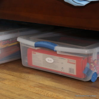 Great ideas for under the bed storage for toys!