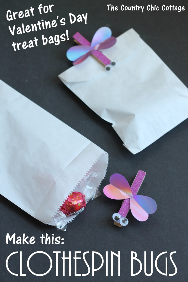 Valentine's Day Clothespin Bugs -- a fun kids craft!