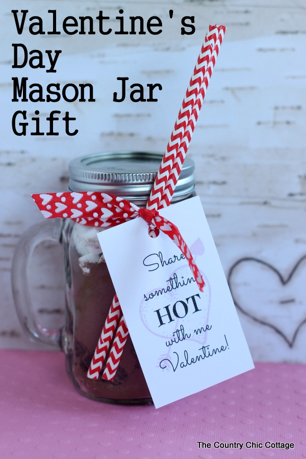 Valentine S Day Mason Jar Gift Idea 004 The Country Chic Cottage