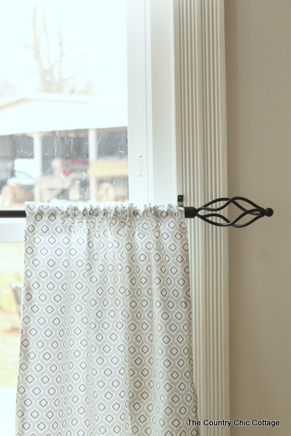 See how to sew custom size cafe style curtains easily -- just straight lines!