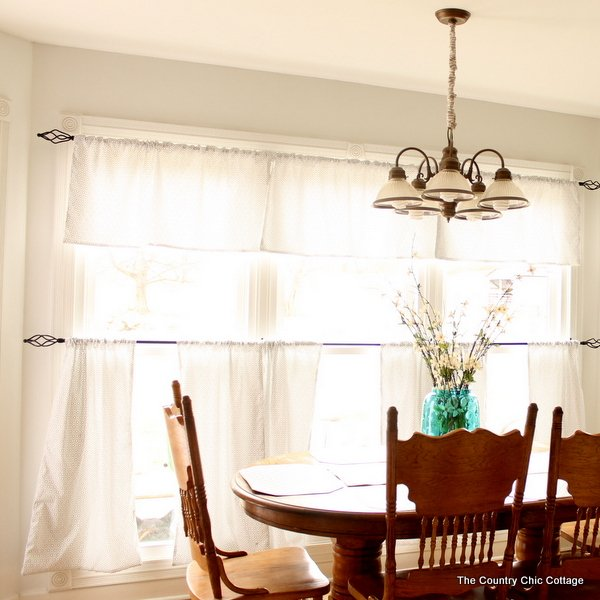 Marvelous See how to sew custom size cafe style curtains easily just straight lines