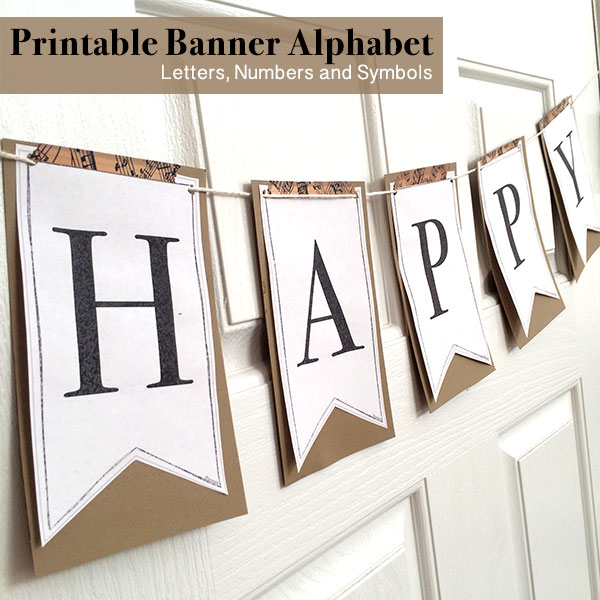 Printable Full Alphabet for Banners - The Country Chic Cottage